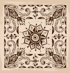 boho style graphic elements beautiful hand drawn vector image