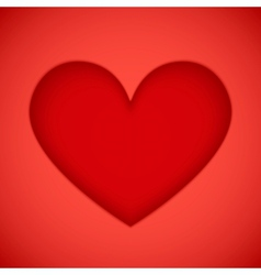 Bright red plastic cutout heart vector image