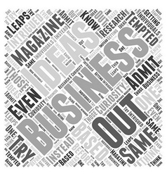 Business ideas Word Cloud Concept vector