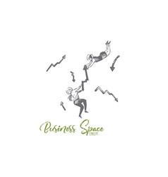business space suit arrow women fly concept vector image