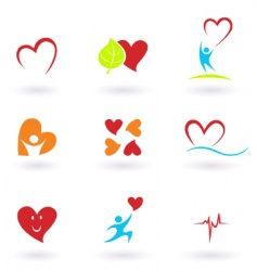 cardiology and people icons vector image