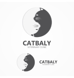 Cat icon Pet shop logo vector image