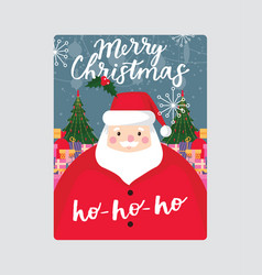 Christmas merry xmas greeting card with vector