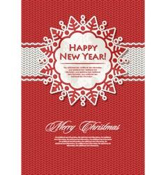 christmas snowflake vector image