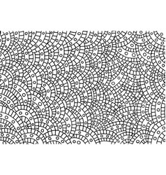 coloring page for adults circles waves and vector image