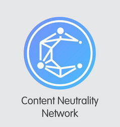 Content neutrality network - digital coin vector