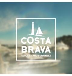 Costa Brava souvenir print vector image