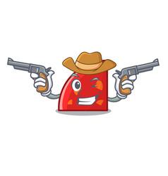 Cowboy quadrant character cartoon style vector