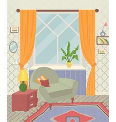design a comfortable living room a set modern vector image