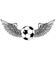 football with wings isolated on white vector image