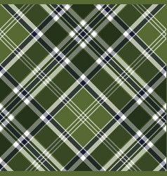 Green checkered plaid seamless fabric texture vector