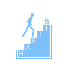 Habit stairs formation vector