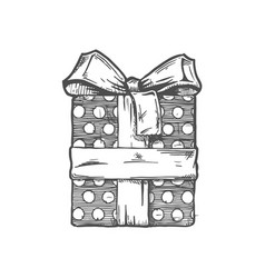 hand drawn of gift boxe vector image
