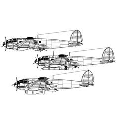 Heinkel he 111 vector