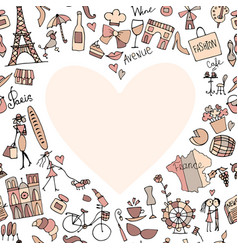 i love france sketch for your design vector image