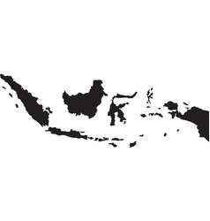 Indonesian map background vector