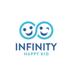 infinity child logo icon caring kid caring son vector image
