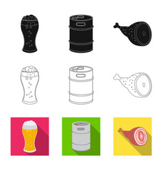 Isolated object of pub and bar logo collection of vector