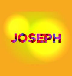 Joseph theme word art vector