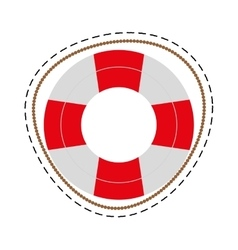 Life buoy safety travel cut line vector