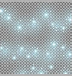 Light glow effect star bursts aqua color vector