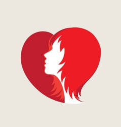 Love hair logo vector