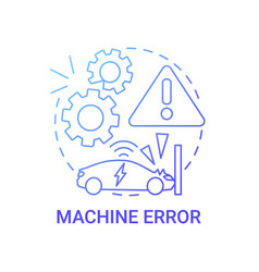 Machine breaking issue concept icon vector