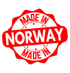 made in norway sign or stamp vector image