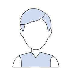 Man faceless profile vector