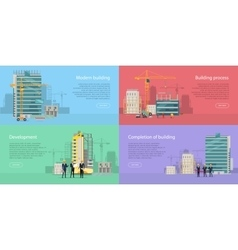 Modern Building Development Building Process vector image