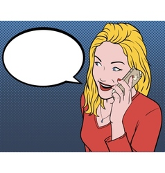 Modern Girl Talking On The Phone vector image