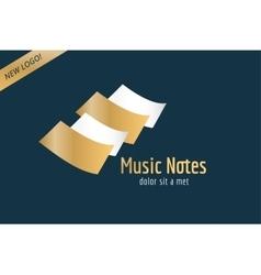 Music piano keys logo icon template Melody vector image