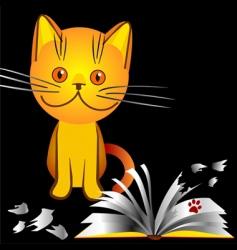 naughty kitten character vector image