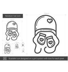 newborn hat line icon vector image