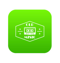 old music icon green vector image