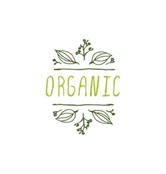 Organic - product label on white background vector