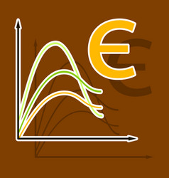 Paper sticker on theme arabic business euro chart vector