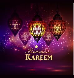 Ramadan kareem greetings vector