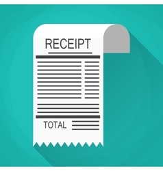 Receipt and Invoice icon vector image