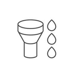 roof gutter system line icon vector image