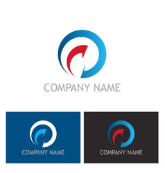 round arrow abstract company logo vector image