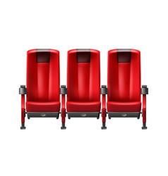 row of cinema seats vector image vector image
