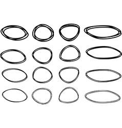 Set of black pictured frames vector image