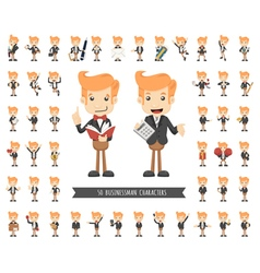 Set of businessman character eps10 format vector image