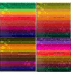 Set of four Colourful line background vector image