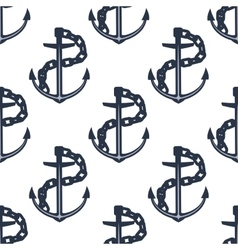 Ship anchors nautical seamless pattern vector image