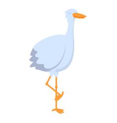 Sleeping stork icon cartoon style vector