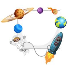 Solar system space frame vector
