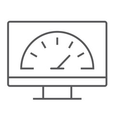 Speed optimization thin line icon internet vector