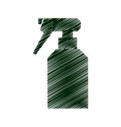 Sprinkler bottle isolated icon vector